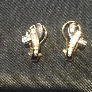 Jewelry - 10 KT GOLD AND DIAMOND EARRINGS
